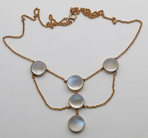 15ct Art Nouveau & Moonstone Necklace (1 of 1)