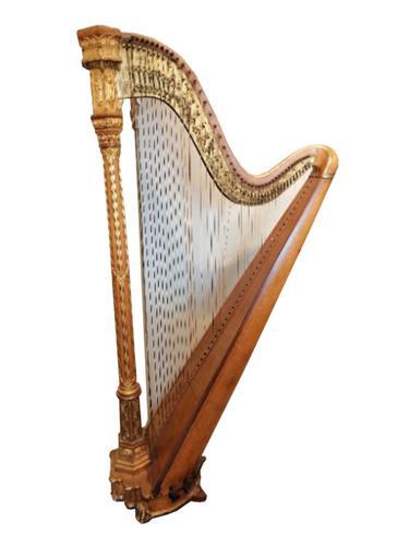 Beautiful Erard Gothic Concert Maple & Gilded Harp (1 of 11)