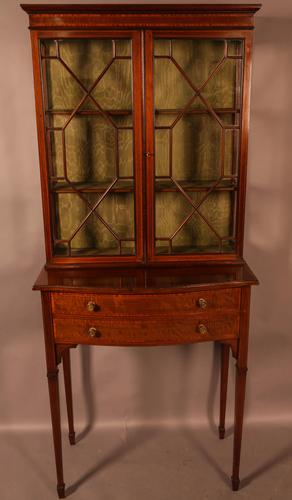 A Late Victorian Salon Cabinet Satinwood (1 of 8)