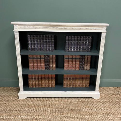 Antique Victorian Painted Open Bookcase (1 of 6)