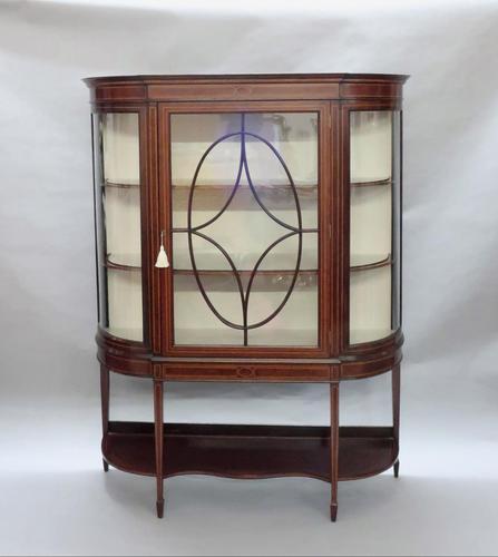 Edwardian Mahogany Glazed Display Cabinet (1 of 7)