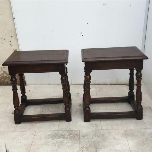 Pair of Oak Coffin Stools Circa Late 17th Century (1 of 24)
