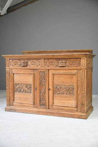 Victorian Golden Oak Dresser (1 of 11)