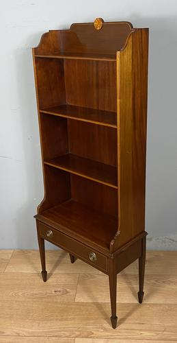 Mahogany Open Bookcase with Drawer (1 of 6)