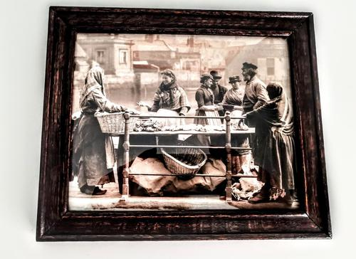 Victorian Photographic Print of Women Working at Quayside -Framed (1 of 4)