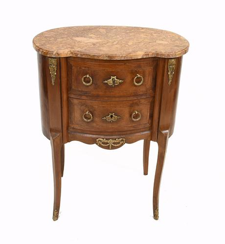 Antique French Commode Empire Bedside Chest c.1920 (1 of 9)