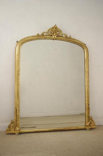 Gilt Arched Top  Overmantle (1 of 9)