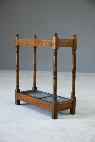 Early 20th Century Oak Stick Stand (1 of 12)