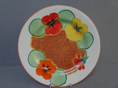 Clarice Cliff Nasturtium Patterm Plate (1 of 6)