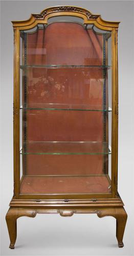 19th Century Continental Walnut Display Cabinet (1 of 6)