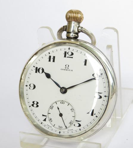 1924 silver Omega pocket watch (1 of 5)