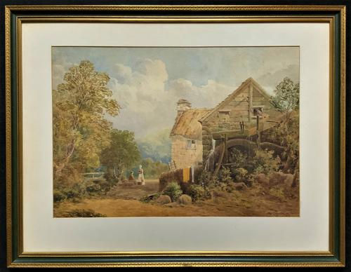 William Charles Goddard (exh.1885) Stunning Country Watermill Landscape Painting (1 of 15)