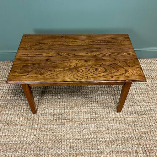 19th Century Elm and Cherry Antique Coffee Table (1 of 5)