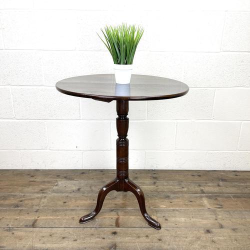 Antique Oak Tripod Table (1 of 6)