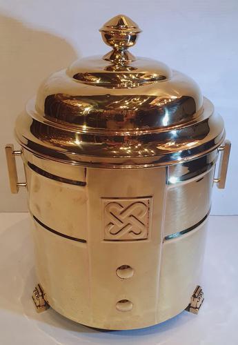 Art Deco Polished Brass Coal Bucket (1 of 5)