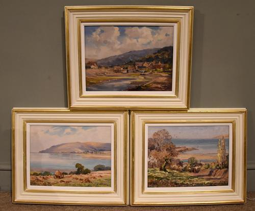 """Oil painting by Alec Caruthers Gould """"Porlock"""""""" (1 of 11)"""