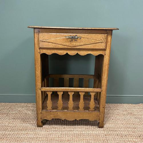Country House French Georgian Oak Antique Bread Cupboard (1 of 5)