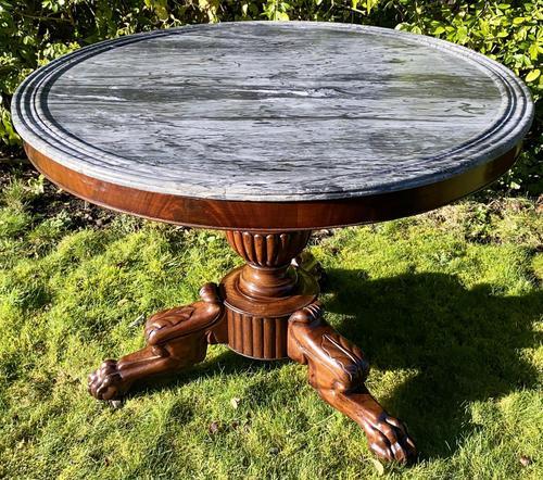 Flame Mahogany Gueridon Centre Table (1 of 7)