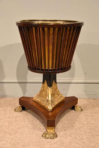 19th Century Dutch Mahogany Ice Bucket on Stand (1 of 7)