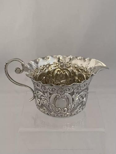 Small Victorian Antique Silver Cream Jug 1898 London Josiah Williams Sterling (1 of 10)