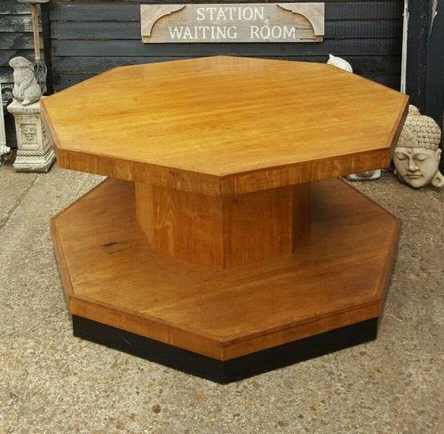 Superb Art Deco Walnut Centre Table (1 of 4)