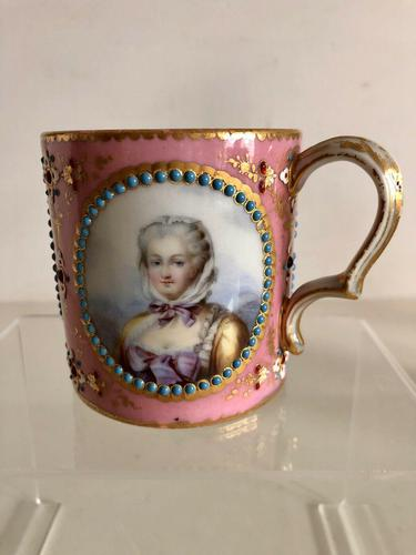 French Sevres Porcelain Cup Portraits of Louis XV & Mistresses, Circa 1760 (1 of 8)