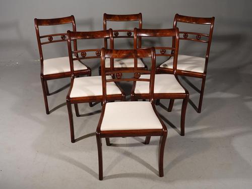 Elegant Set of 6 Sabre Legged Mahogany Dining Chairs (1 of 6)