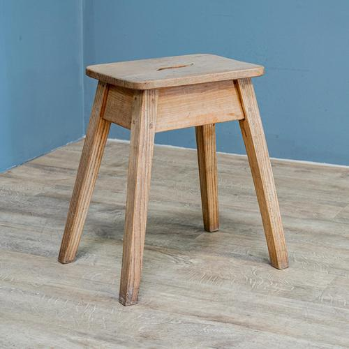 Rustic Ash & Elm Stool (1 of 5)