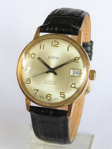 Gents 1970s Liga Wrist Watch (1 of 5)