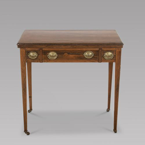 Victorian Rosewood Strung Games Table (1 of 4)