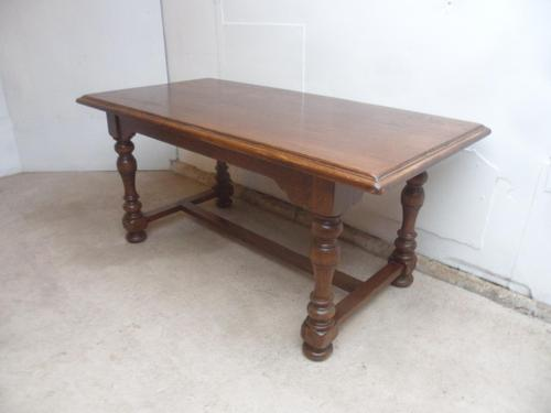 Superb 1920s Golden Oak 2 Piece 6-8 Seater Refectory Dining / Kitchen Table (1 of 8)