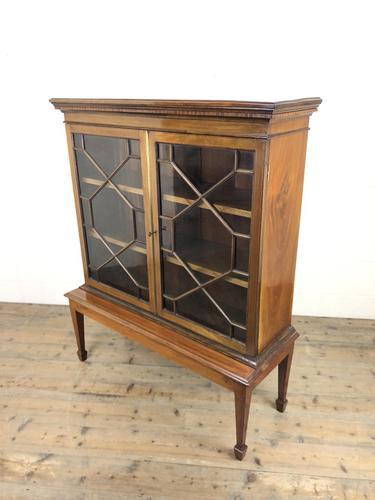 Mahogany Glazed Bookcase or Display Cabinet (1 of 12)