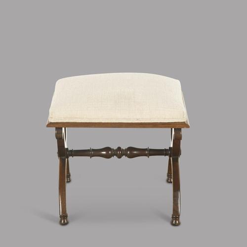19th Century English Rosewood X Frame Stool (1 of 3)