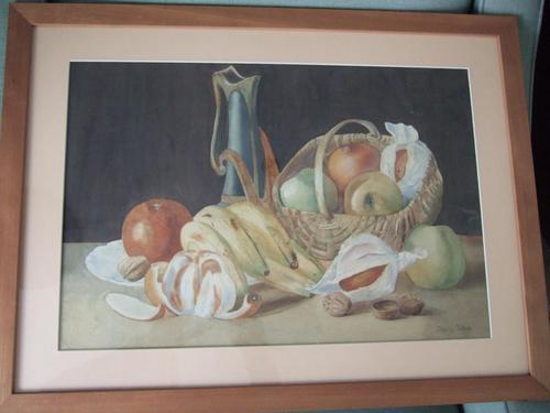 Dorothy Cottam Watercolour Still-life with Art Nouveau Jug (1 of 5)