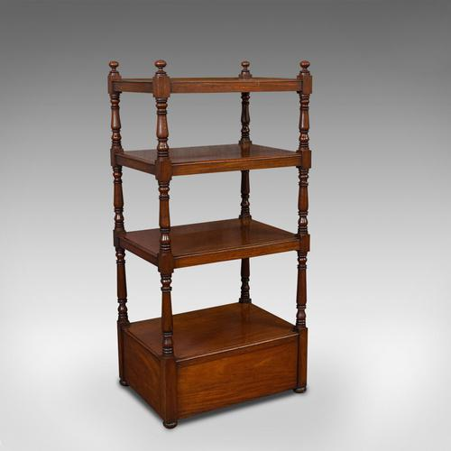 Antique Whatnot, English, Mahogany, Four Tier, Display Stand, Victorian c.1850 (1 of 12)