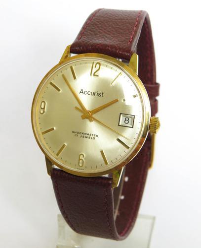 Gents Accurist Shockmaster Wrist Watch, c.1970 (1 of 5)