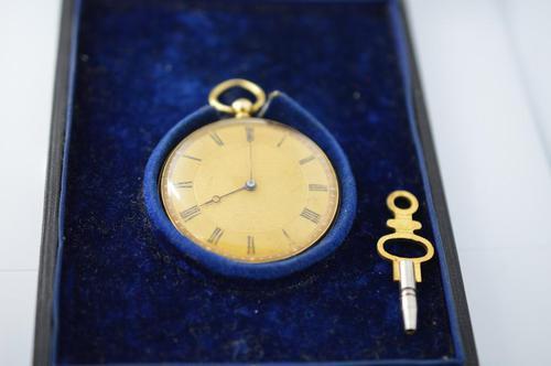 Arnold 18K Gold Pocket Watch & Box (1 of 5)