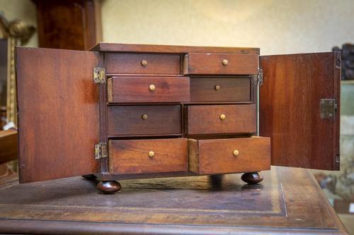 Mahogany Collectors' Cabinet (1 of 2)