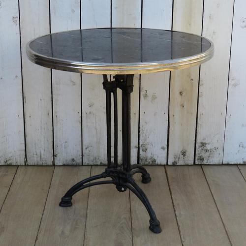 Art Deco Marble & Cast Iron Garden Bistro Table (1 of 7)