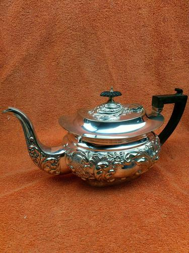 Antique Silver Plated Teapot JB Chatterley & Sons Ltd c.1920 (1 of 12)