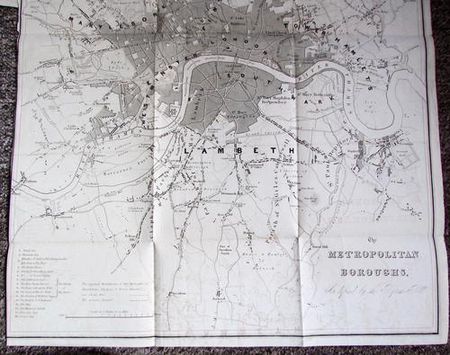 1832 The Metropolitan Boroughs Rare Reform Bill Plan. London Map by Robert Dawson (1 of 4)