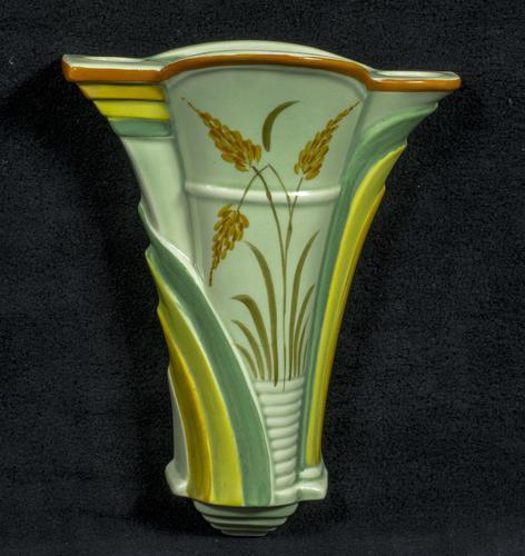Burleigh Ware Art Deco Wall Pocket / Vase (1 of 4)