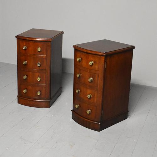 Pair of Victorian Mahogany Bow-front Bedside Cabinets (1 of 7)