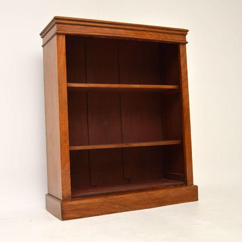 Antique Victorian Walnut Open  Bookcase (1 of 8)