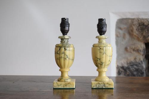 Antique Pair of Alabaster Table Lamps (1 of 10)