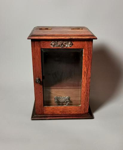 Antique Victorian Oak Smokers Cabinet (1 of 12)