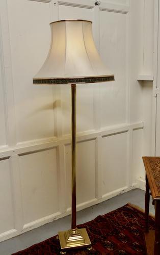 Corinthian Column Brass Floor Lamp (1 of 6)