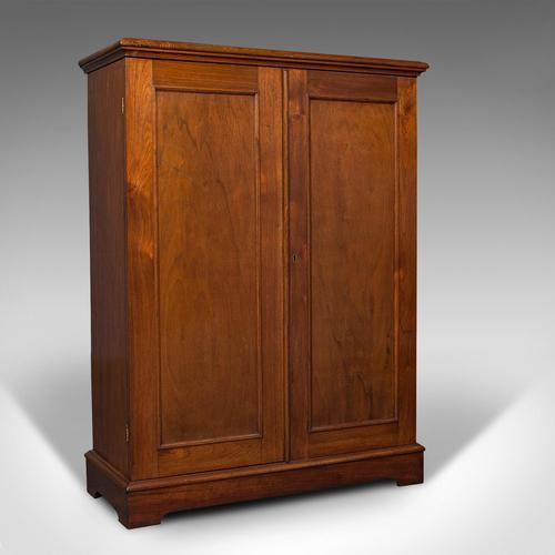Antique Side Cabinet, English, Walnut, Drinks Cupboard, Bookcase, Edwardian (1 of 10)