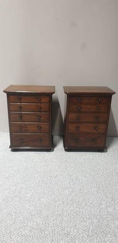 Pair Mahogany Bedside Chests of Drawers (1 of 5)