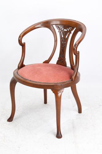 Edwardian Mahogany Tub Chair (1 of 13)